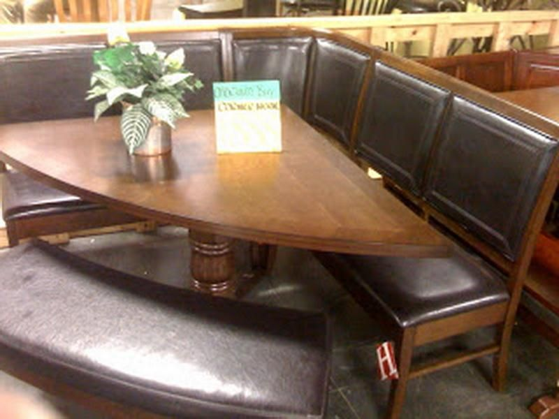 Wonderful Unique Corner Kitchen Table Design Leather Seat And Bench