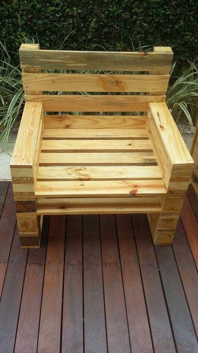 Well-known Cadeira /poltrona de palet | Madeira reaproveitada, Mais cor por  PZ26