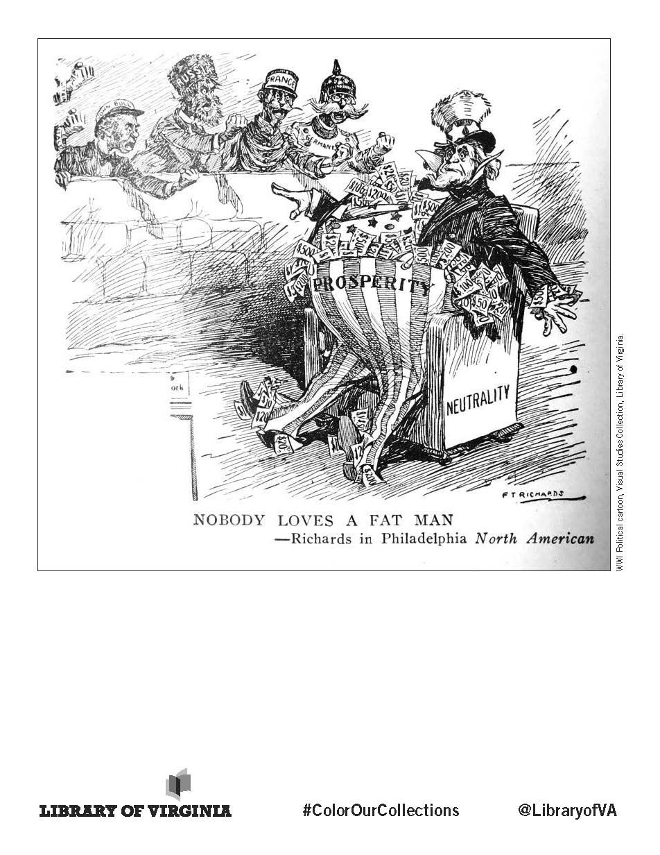 WWI Political Cartoon from the Library of Virginia's