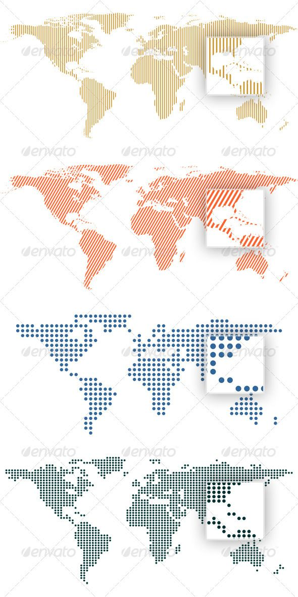 World map by dots and lines coreldraw vector graphics and world map by dots and lines by erengoksel 4 vector world maps formed by lines and dots ai and coreldraw x4 files included gumiabroncs