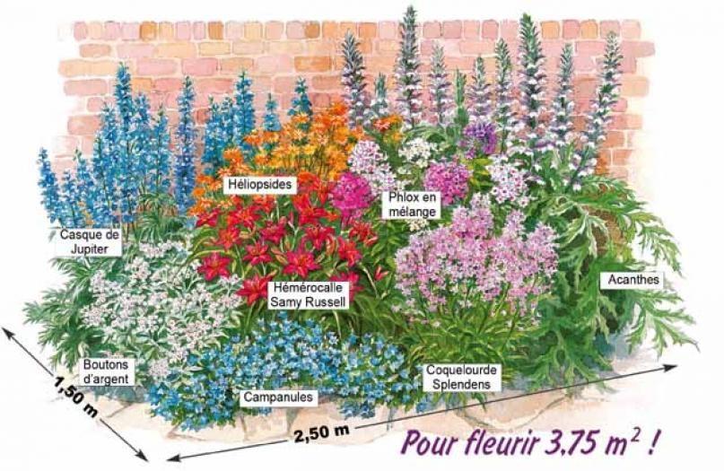 image associ e jardin massif fleurs parterres de. Black Bedroom Furniture Sets. Home Design Ideas