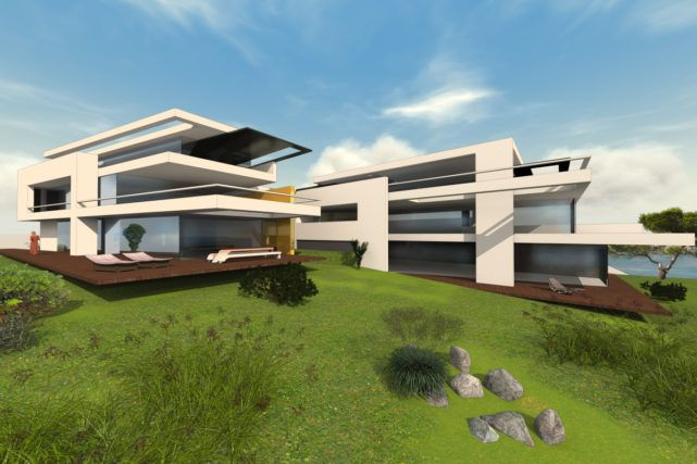 modernes mehrfamilienhaus bauen 3 6 parteien mit penthousewohnung huise pinterest haus. Black Bedroom Furniture Sets. Home Design Ideas