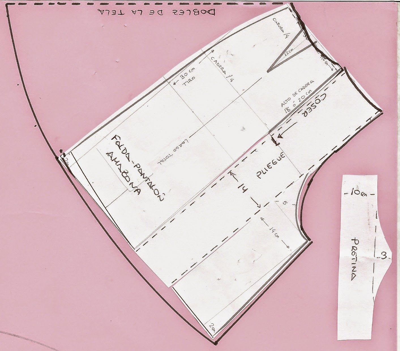 PATRÓN Y COSTURA: Tema 40 La falda-pantalón de \