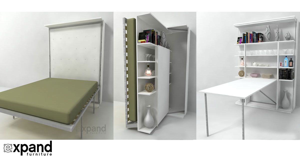 Premium Italian Made Hidden Library Wall Bed That Rotates 180 Degrees To Reveal A Custom Finishes And Optional Table Available Italy You