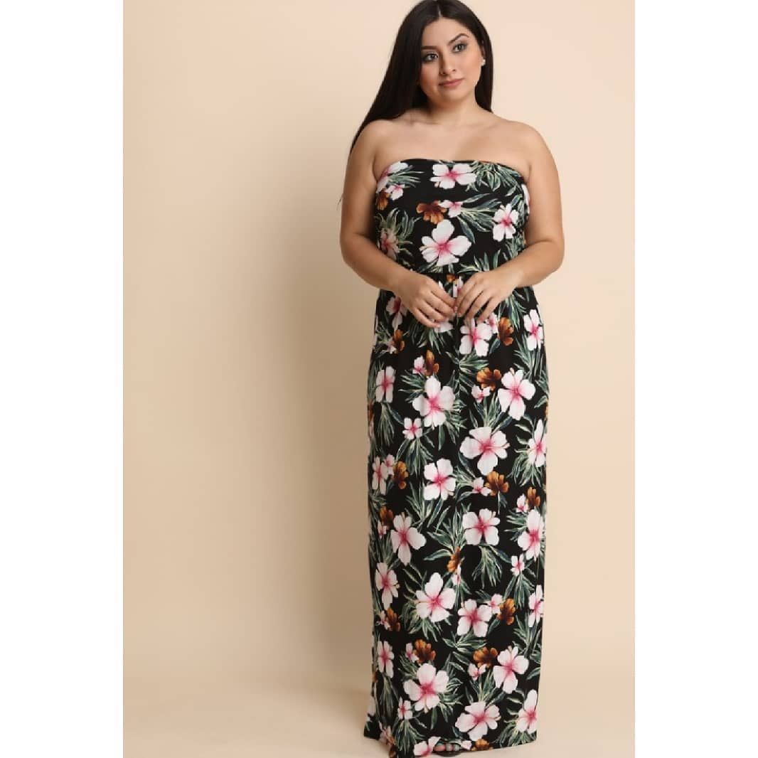 40 This Plus Size Maxi Dress Feature A Beautiful Floral Prints Throughout Elasticized Tube Strapless Tube Dress Floral Tube Dress Plus Size Maxi Dresses [ 1066 x 1066 Pixel ]