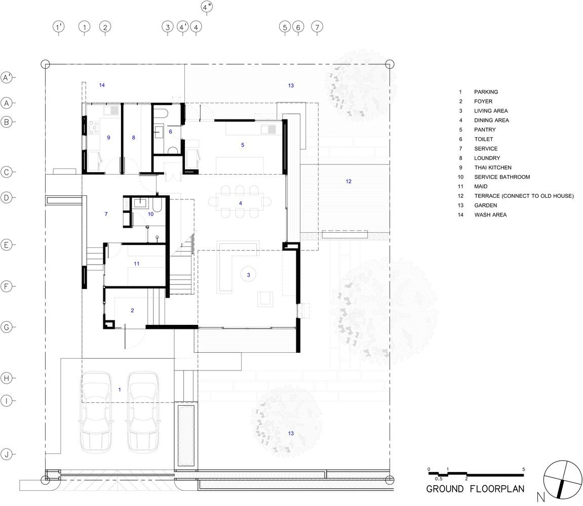 Gallery Of Demoh Home Lynk Architect 28 Architect House Floor Plans Architecture Plan