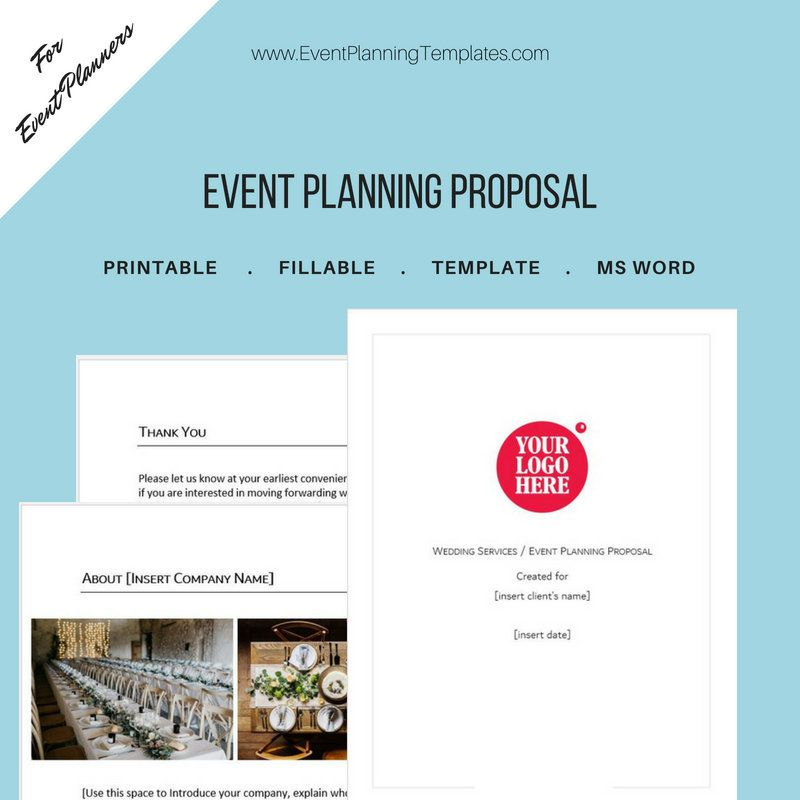 Event Planning Proposal for Event and Wedding Planners Customizable