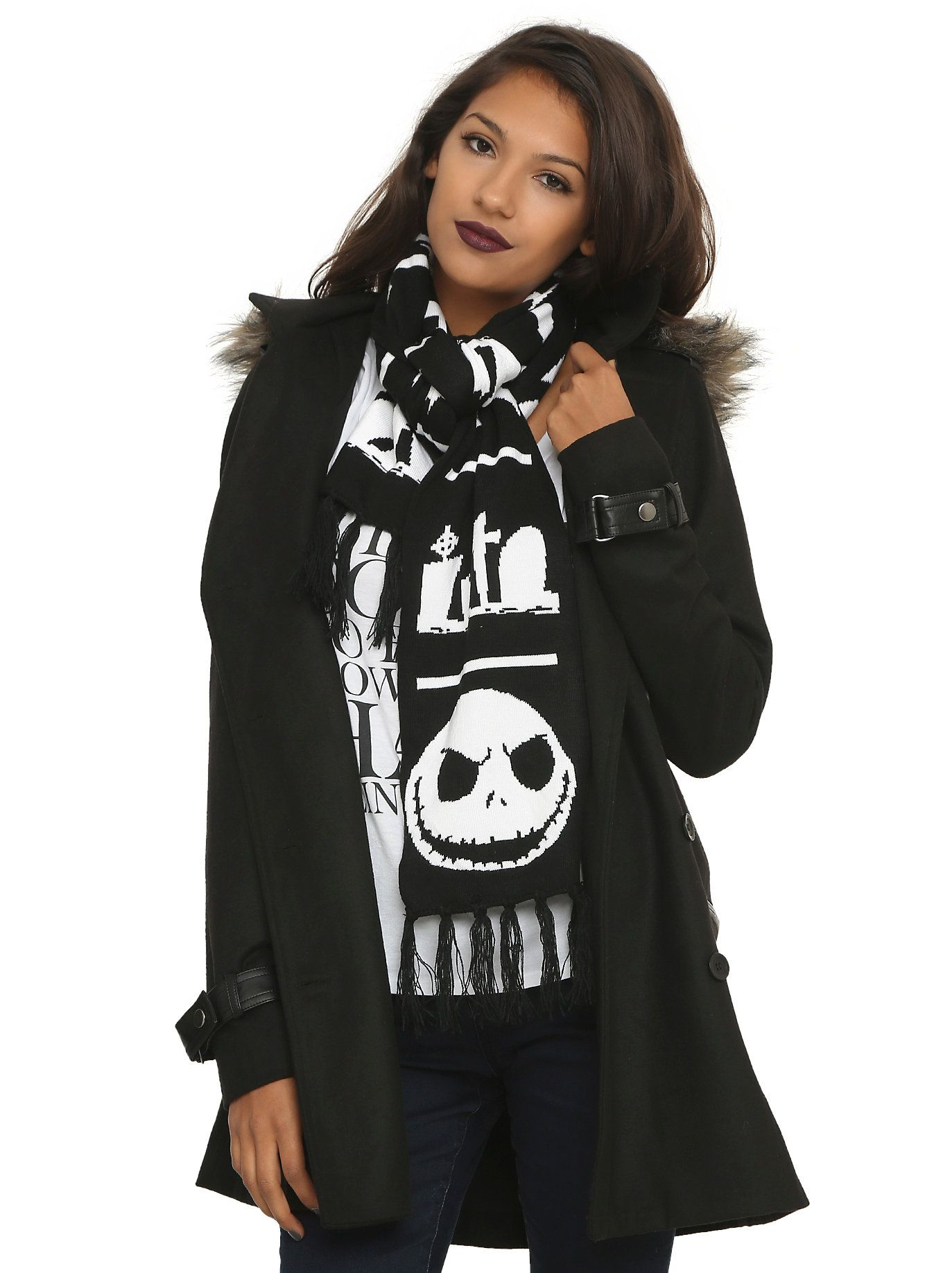 The Nightmare Before Christmas Knit Scarf