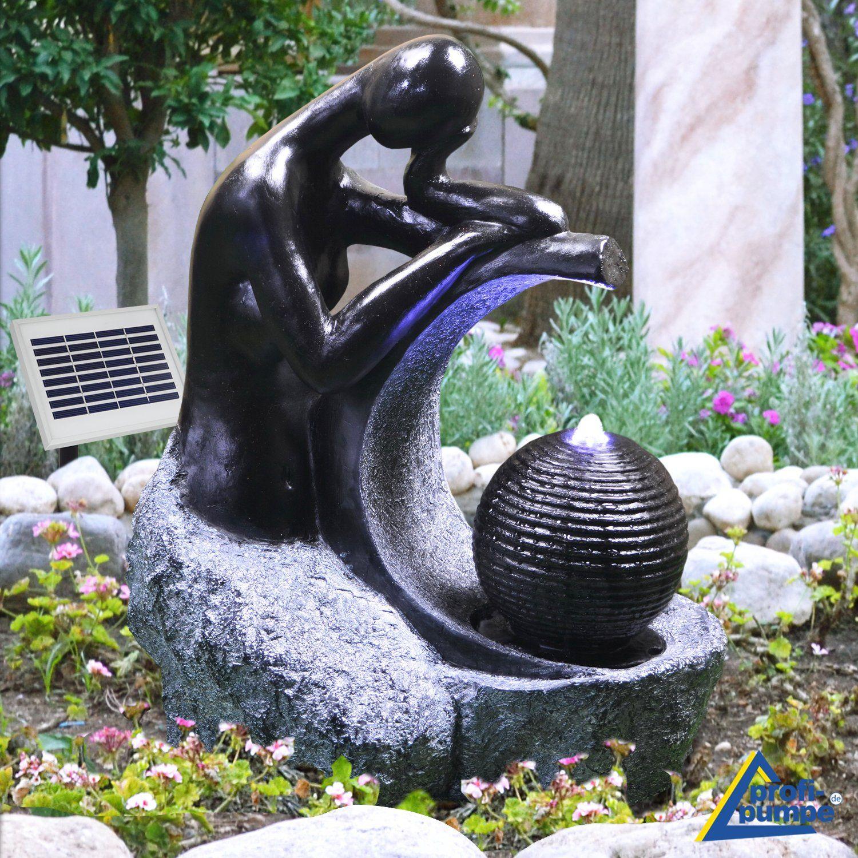Brunnen Lady In Black In 2020 Solarbrunnen Gartenbrunnen Solarbrunnen Garten