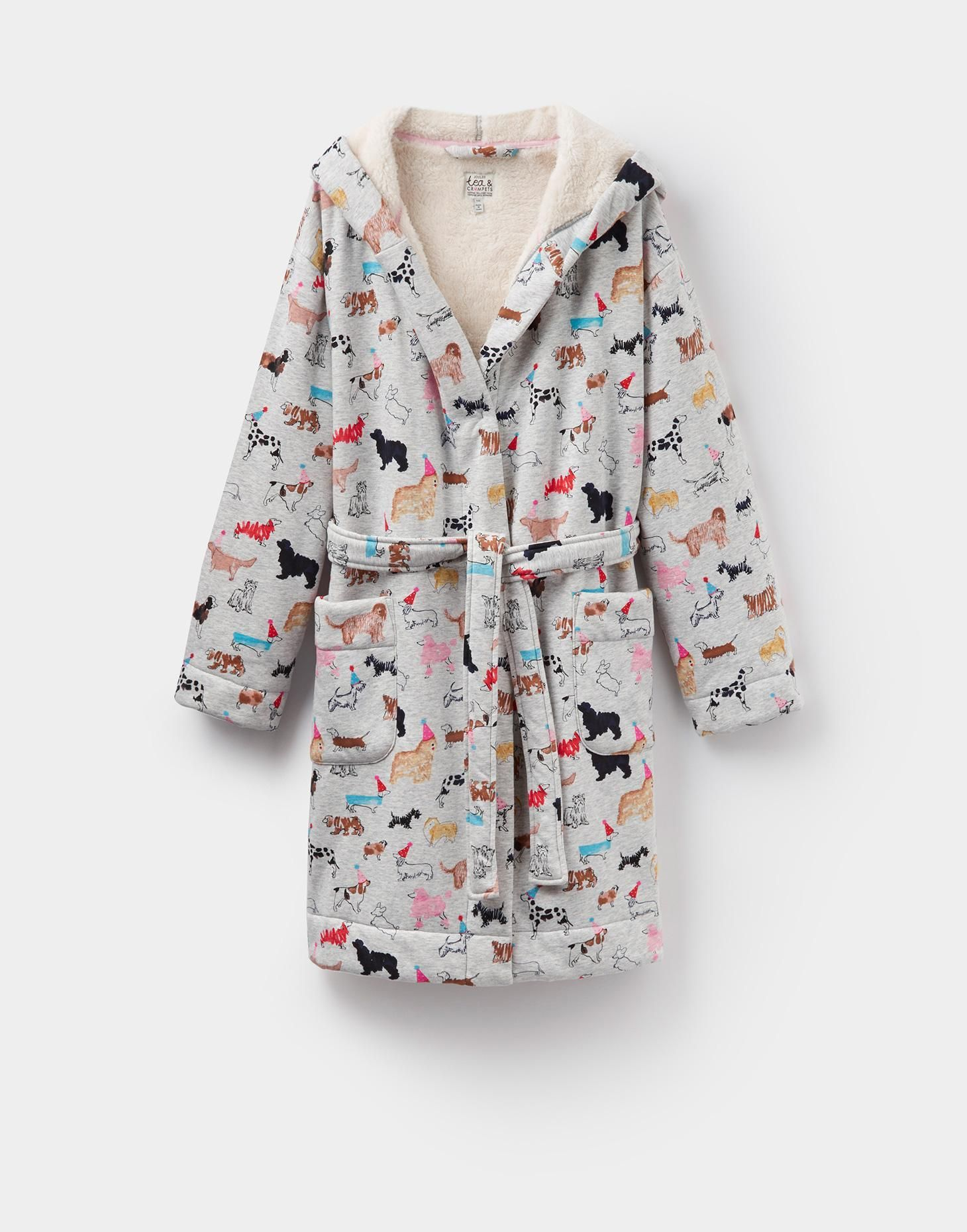 IDLEWHILE Fleece-Lined Dressing Gown | Gowns and Gray