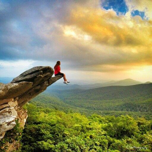 Free Spirit ... Hiking The Rough Ridge Trail Off The Blue