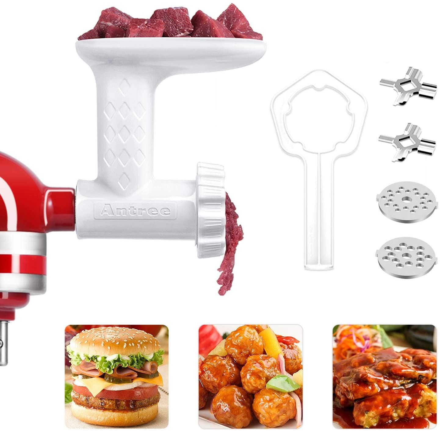 Antree food grinder attachment for kitchenaid stand mixers