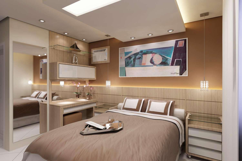 Casa E Design Arquitetura Interiores M Veis Sob Medida Papel  ~ Decoração Com Papel De Parede Para Quarto De Casal