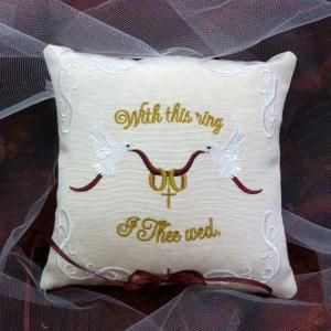 Ringbearer Pillow Doves Weddings Pillow Embroidery