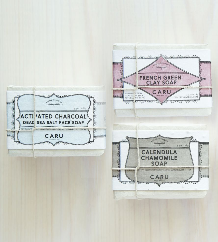 Natural Soap Gift Set - Charcoal, French Green Clay & Calendula Chamomile