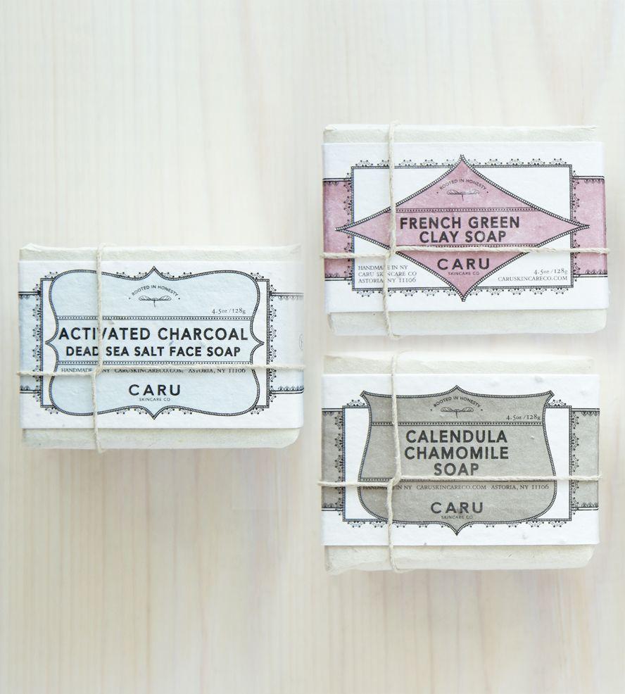 Natural Soap Gift Set - Charcoal, French Green Clay & Calendula Chamomile
