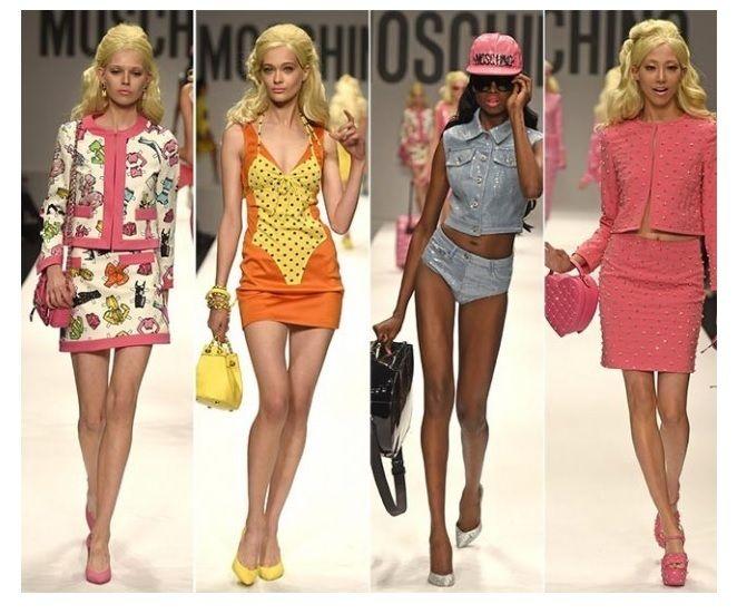 Colori moda di tendenza estate 2015 by Moschino [credit pianetadonna.it]Cosa ci riserva la moda in termini di line retrò anni 70 lo abbiamo visto ma per i colori dobbiamo approfondire l'argomento. La moda per l'estate 2015 sceglie 10 colori di tendenza...
