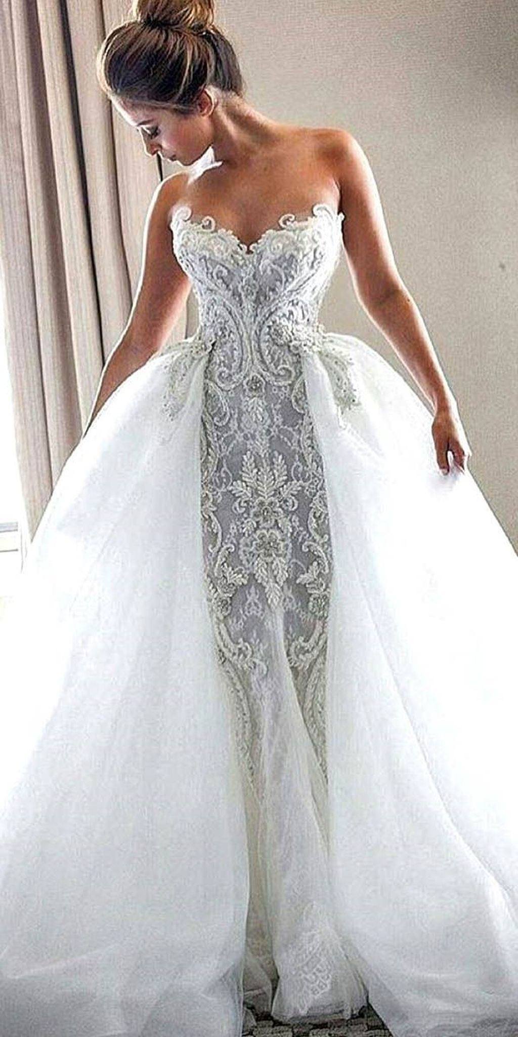 36 Stunning Unique Wedding Gown Inspirations Fashionmoe Wedding Dresses Vintage Lace Weddings Lace Wedding Dress Vintage