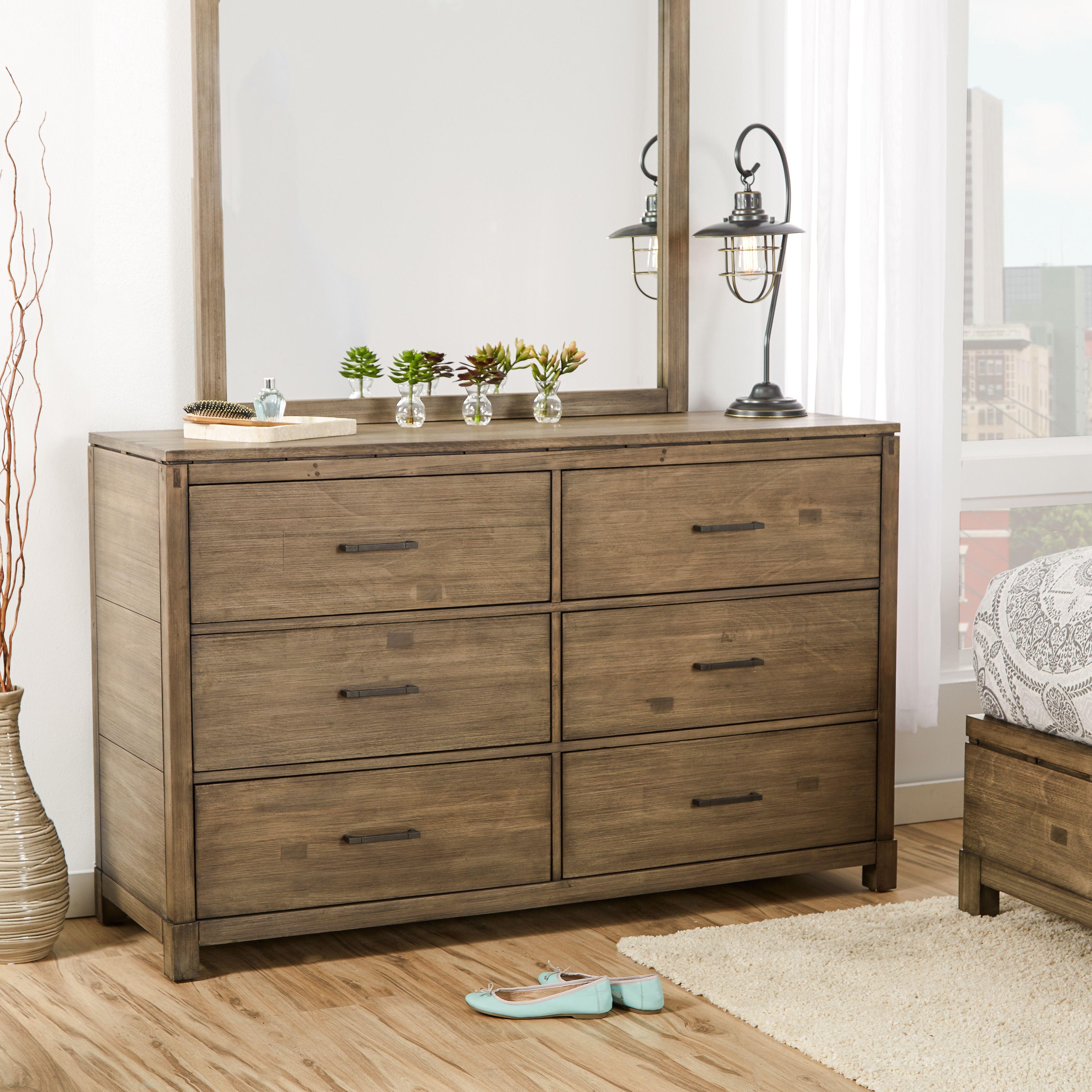Mercury Row Pax 6 Drawer Dresser Dresser Dresser With Mirror 6 Drawer Dresser [ 3731 x 3731 Pixel ]