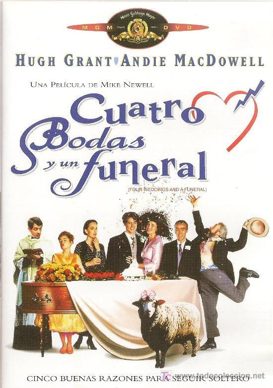 Cuatro bodas y un funeral (1994). DVD propio (29-12-2013).