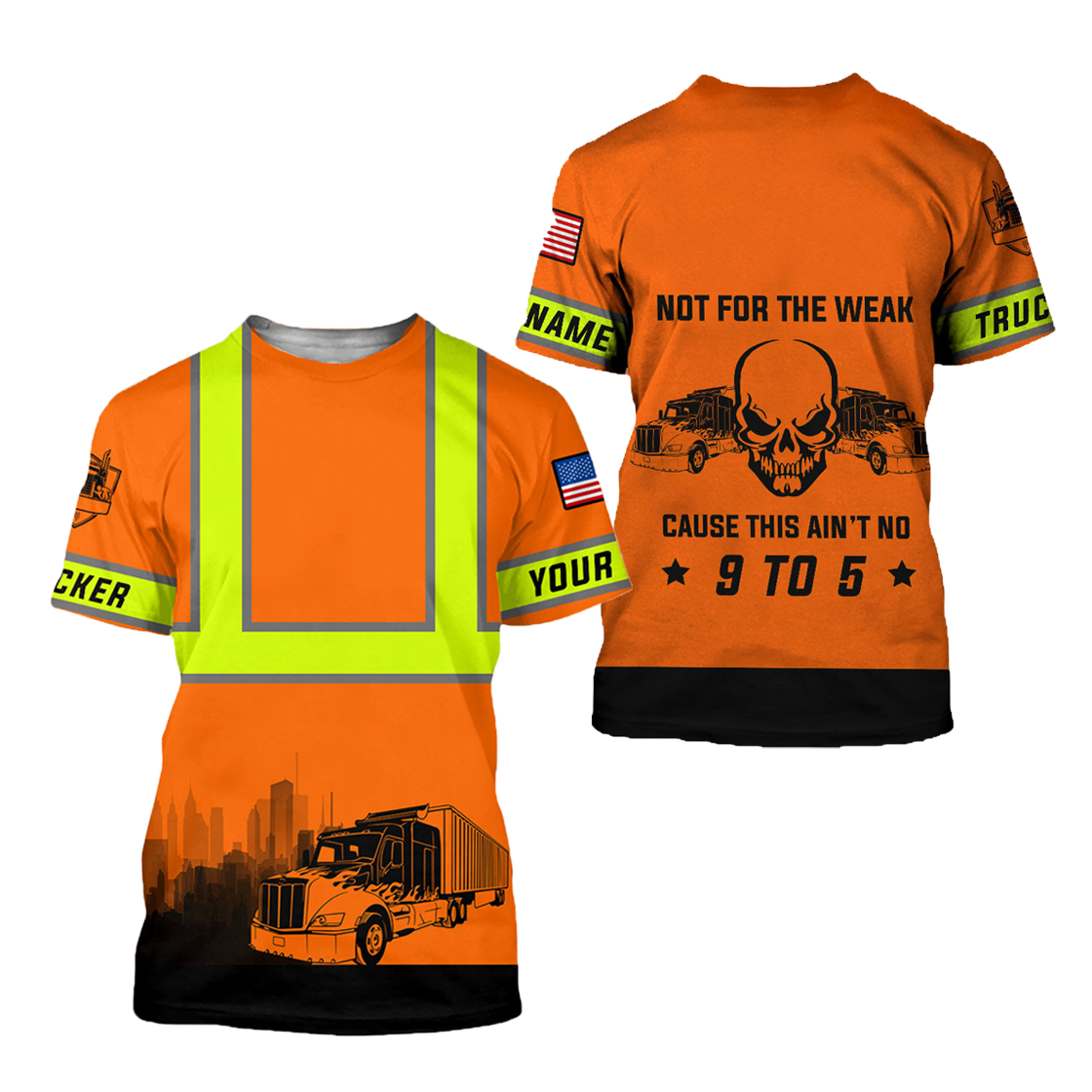 Personalized Trucker Safety Not For The Weak 3D Printed TN - T-shirt / 5XL