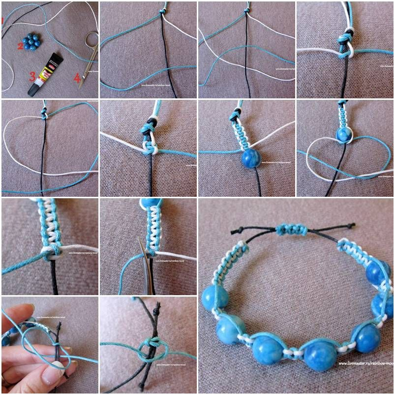 How to make Large Beads Bracelet step by step DIY tutorial instructions, How to, how to do, diy instructions, crafts, do it yourself, diy website, art project ideas