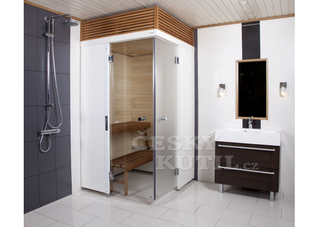 Harvia Smartfold U2013 Make The Most Of Your Bathroom! No Larger Than An  Everyday Walk In Shower Unit Or Bath Tub, Harviau0027s SmartFold Bathroom Sauna  Folds Away ...