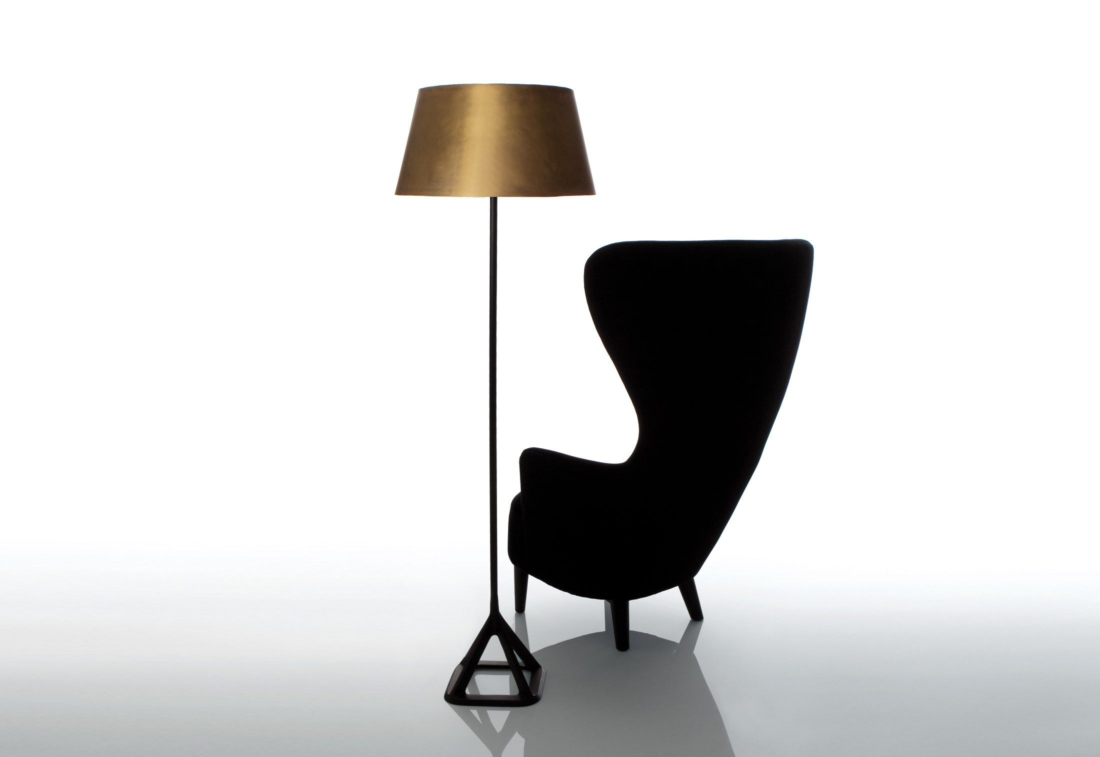 Wingback Chair 2008 By Tom Dixon 1959 Tunisia If You Re Going To Make A Wi With Images Metal Living Room Brass Floor Lamp Contemporary Modern Furniture