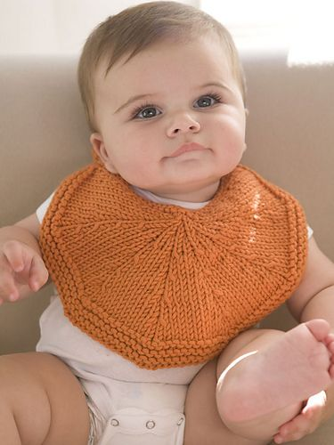 "Worked in ""segments"", this bib is sweet and bright, like its namesake fruit."