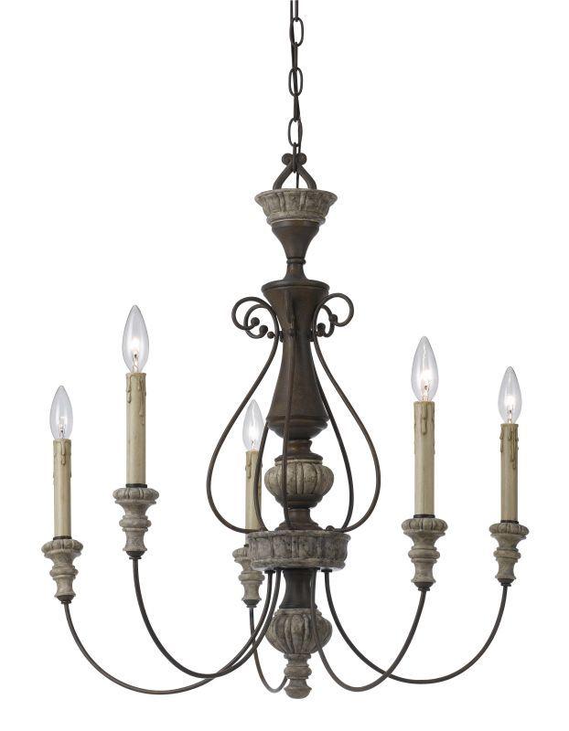 View the Cal Lighting FX-3535/5 5 Light Williams Metal / Resin Chandelier at LightingDirect.com.