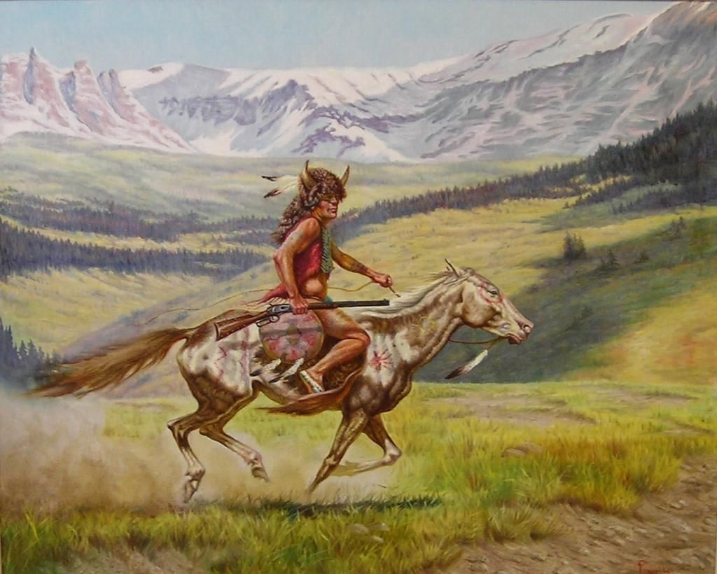 Native American Indian Original Oil Painting Gregory