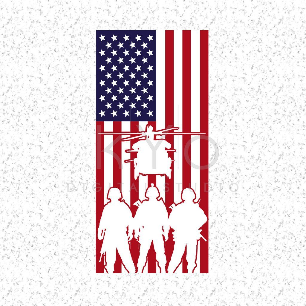 American Flag With Military Silhouettes Svg Veterans Day Svg Presidents Day Svg Memorial Day Svg Us Military Svg American Flag Svg American Flag Svg Memorial Day Svg American Flag Art