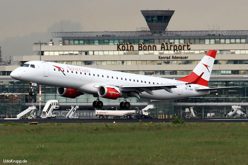 OE-LWA, 18.05.2017 at Cologne, CGN, CN 19000314, Embraer ERJ-195, Austrian Airlines. Have all a great day.