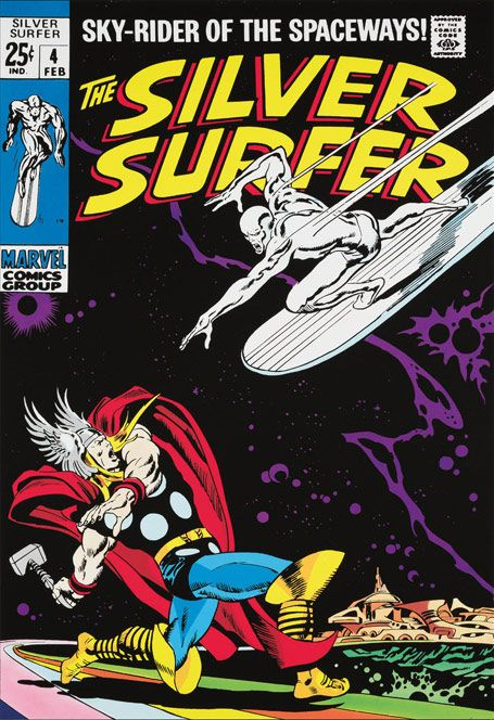 The Silver Surfer #4 by Stan Lee - From £625.00 - Giclée Boxed Canvas Limited Edition