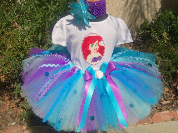 Mermaid tutu set custom made sizes baby6x Perfect by sophiastutus, $75.00