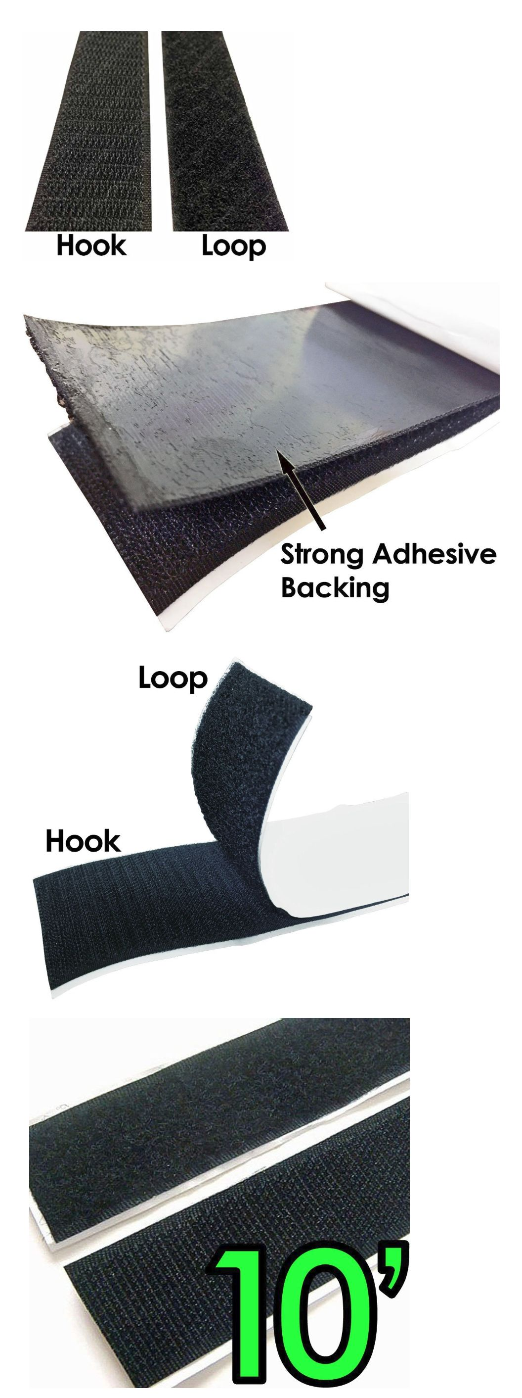 Hook And Loop Tape 180927 Sticky Back Tape Self Adhesive Hook Loop Waterproof Velcro Brand 2 10 Feet Buy It No Hook And Loop Tape Strong Adhesive Hook Loop