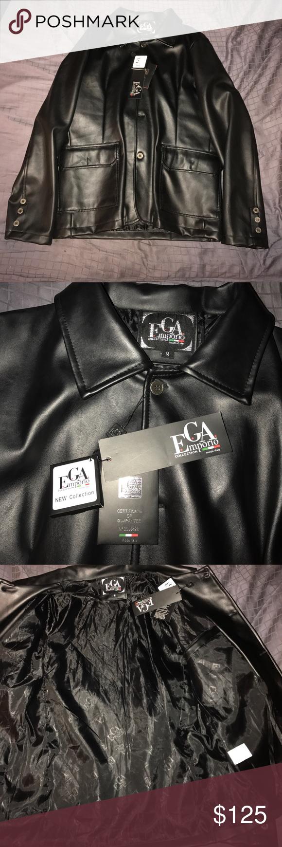 EGA Emporio Collection Men's Real Leather Jacket NWT