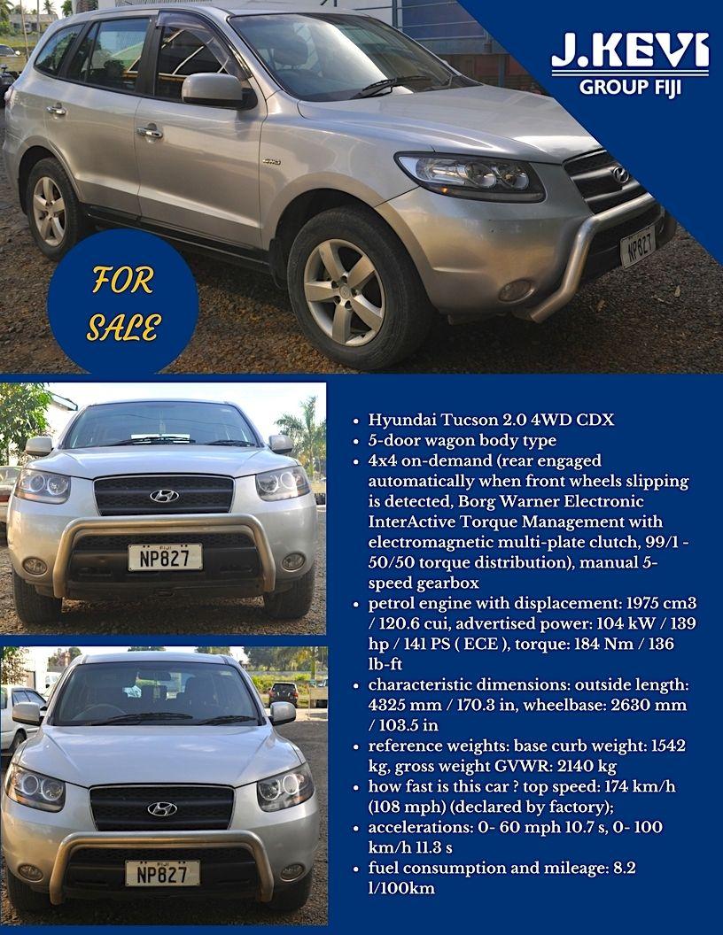 CAR FOR SALE! Hyundai Tucson 2.0 4WD CDX 5door wagon body