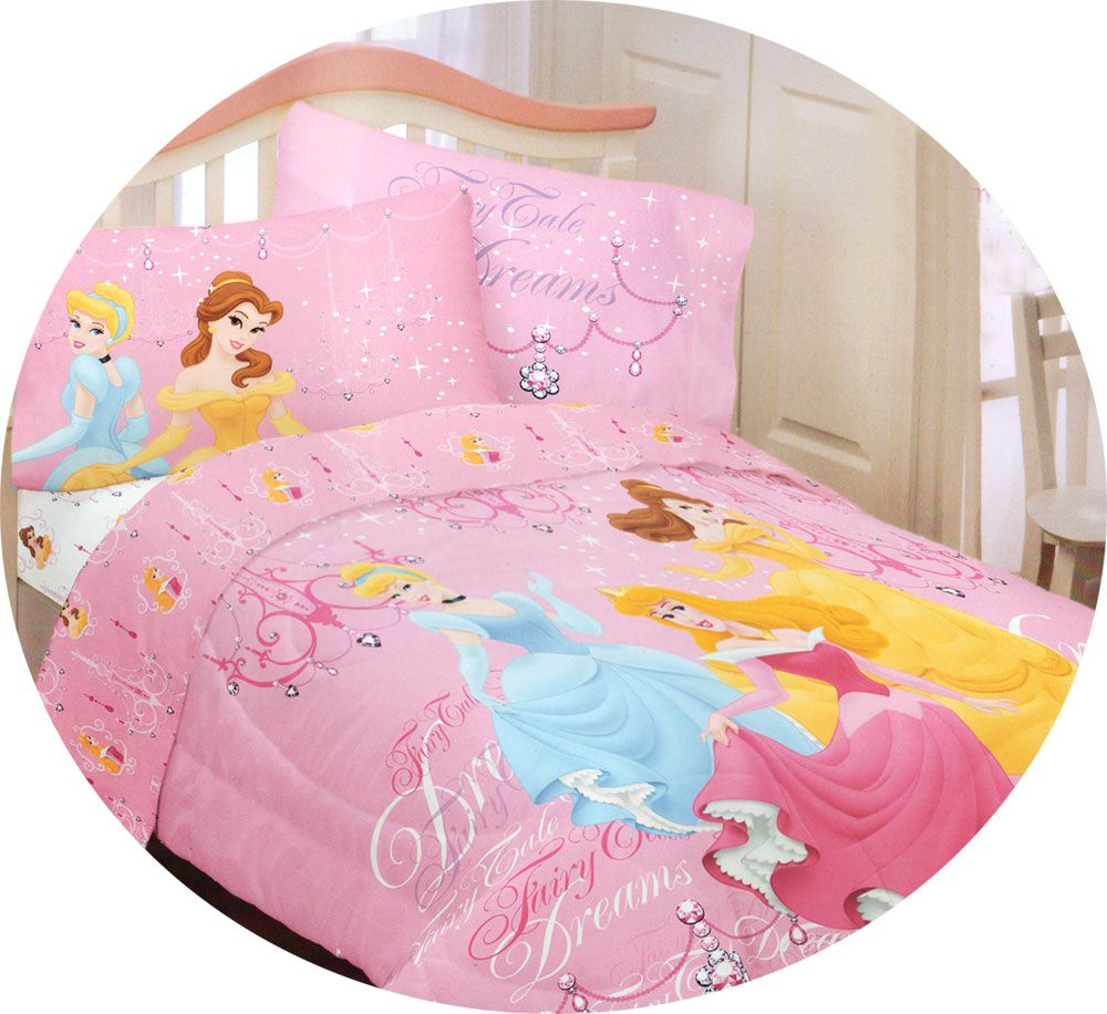 Pcs peter pan bedding set duvet cover fitted sheet pillow case worl - Disney Princess Dreams Full Sheet Set 4pc Cinderella Belle Fairy Tale Sheets Full Double
