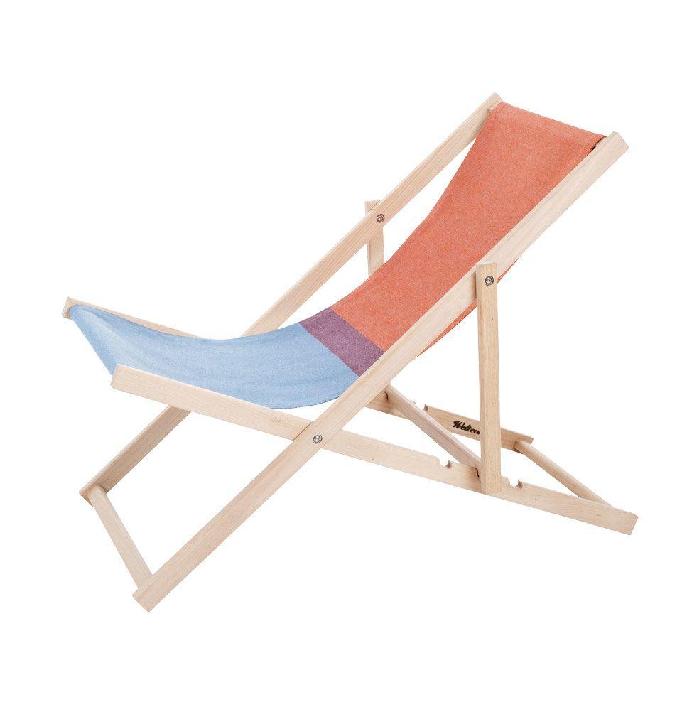 Erst Holz Liegestuhl Blau Sonnenliege Gartenliege Fussteil