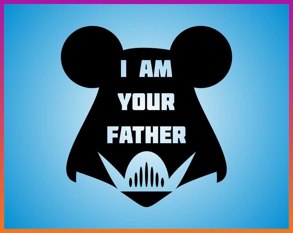 Luke I Am Your Father svg SVG mickey ear svg head Disney