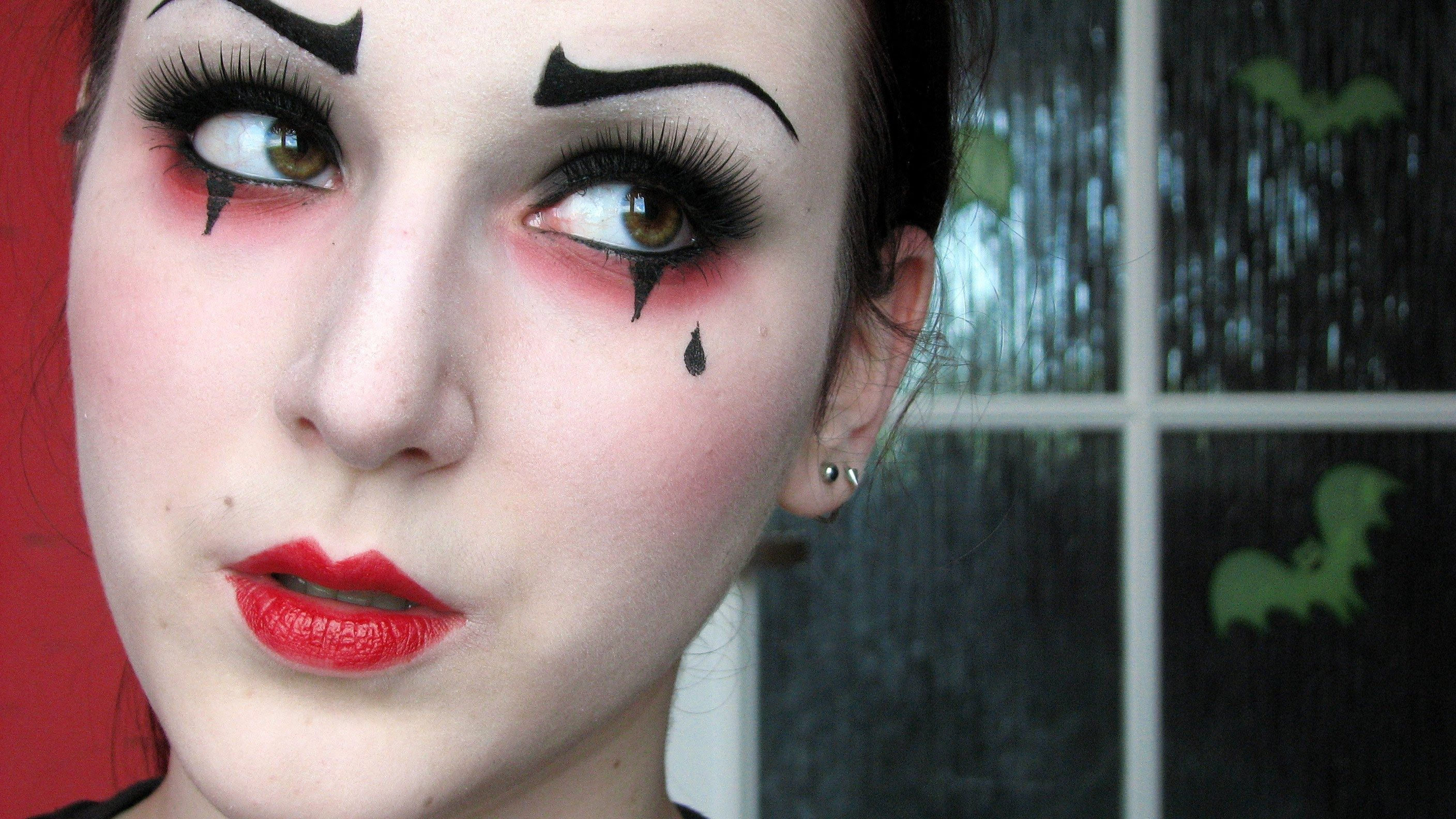 halloween clown makeup tutorial