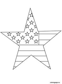 4th Of July Star Star Coloring Pages American Flag Coloring