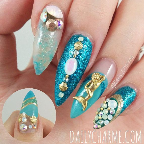 Mermaid Nail Art Adorable: Pin By Colleen Murphy On Nail Art