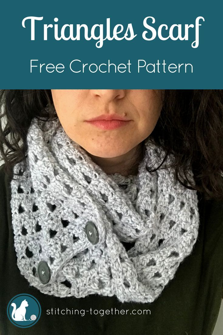Triangles Crochet Scarf - Free Pattern | Crochet Ideas! | Pinterest ...