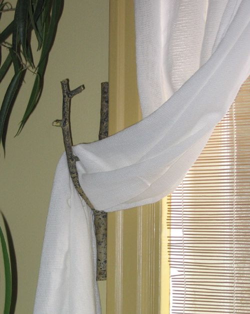 Twig Curtain Tie Back Christmas Curtains Curtain Tie Backs
