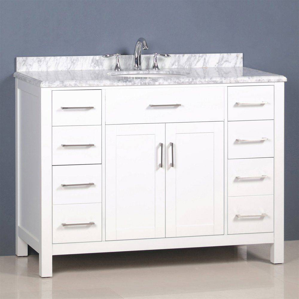 Shop Golden Elite Cac48w 48 In Carrera Vanity At Lowe S Canada Find