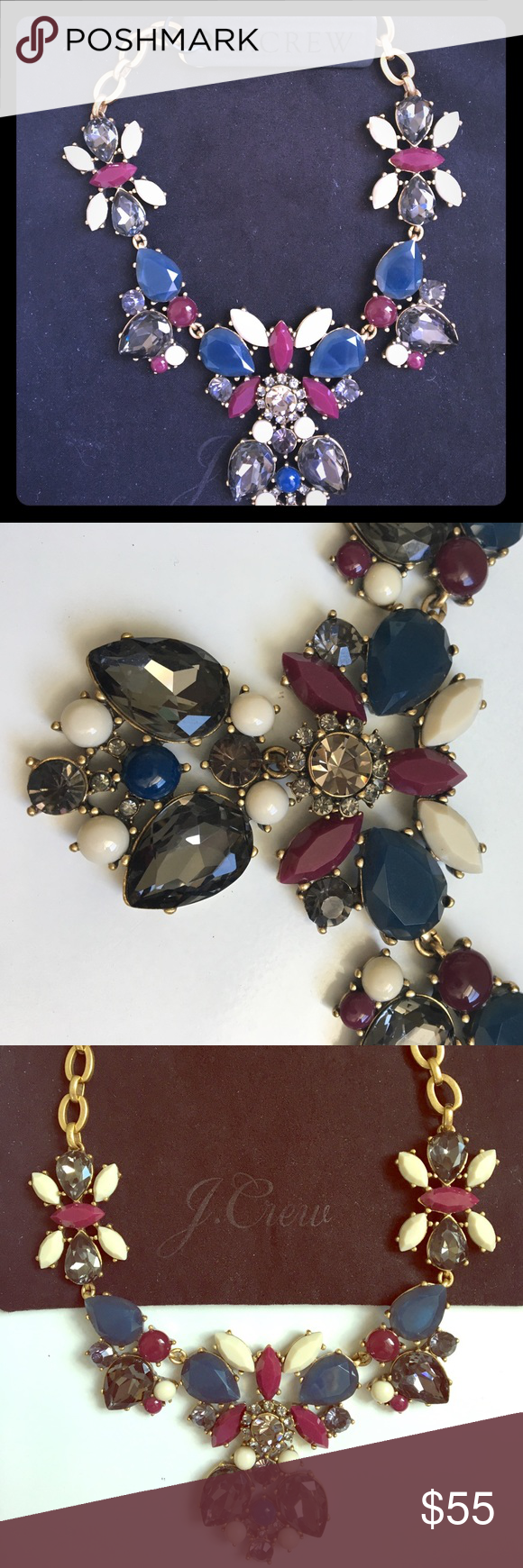J. Crew Crystal necklace New. A dramatic Crystal Necklace. Just what your outfit needs. J. Crew Jewelry Necklaces