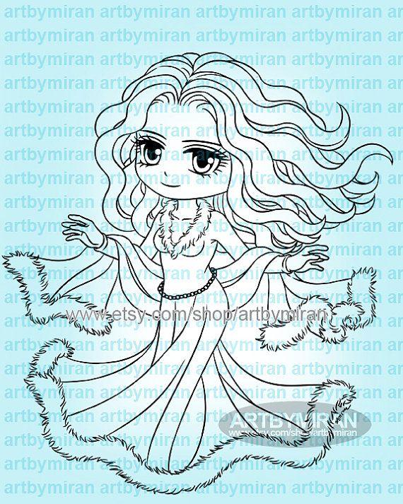 Digital stamp Winter Alyssa 319 by artbymiran on Etsy