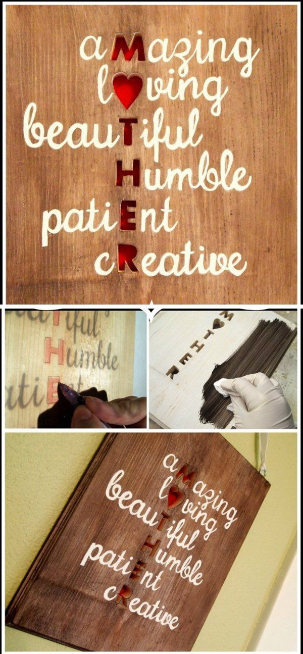 Meaningful DIY Plaque Wall Art For Mom